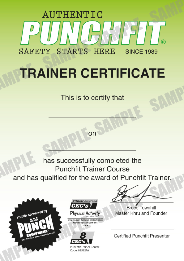 personal training certificate template - personal training certification australia gallery